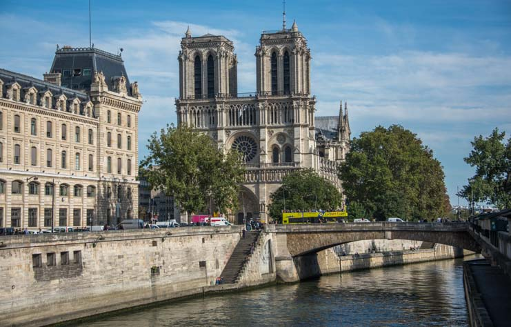 Notre Dame Cathedral on the Seine in Paris