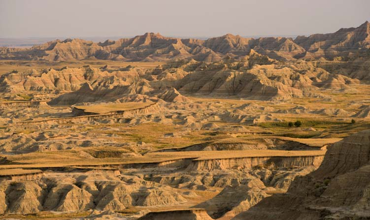 Golden Hour Badlands National Park South Dakota