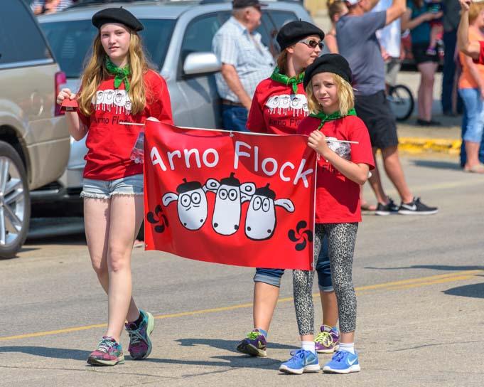 Arno Flock Basque Festival Parade in Buffalo Wyoming