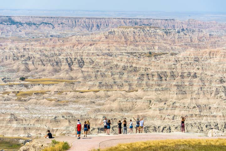 Overlook at Badlands National Park South Dakota
