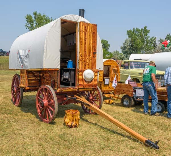 Basque wagon display Buffalo Wyoming Basque Festival