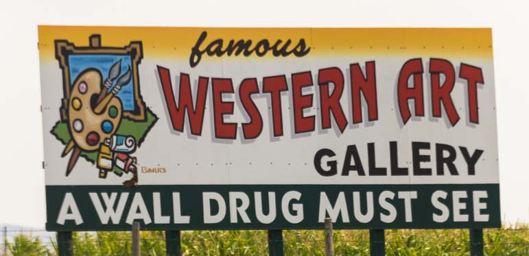 Western Art Wall Drug sign Wall South Dakota