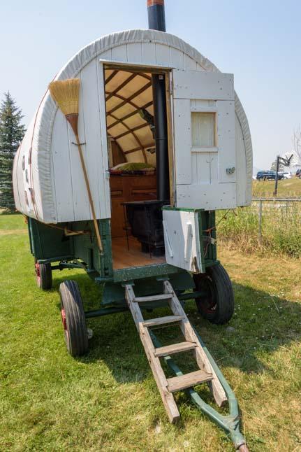 Basque trailer on rubber tires Buffalo Wyoming Basque Festival