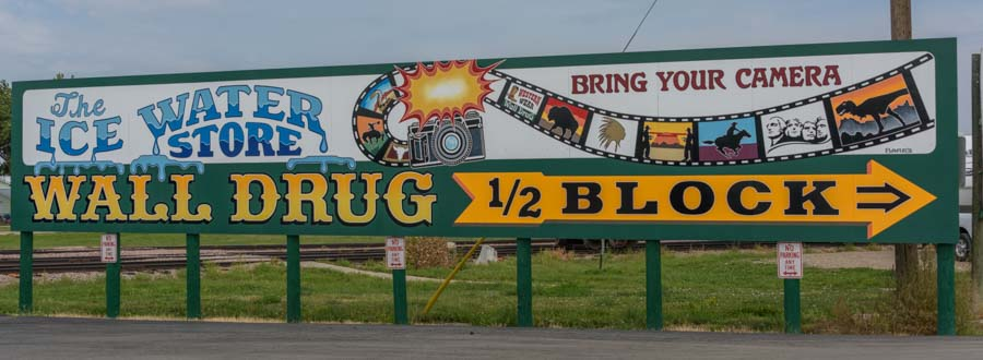Wall Drug ice water sign Wall South Dakota