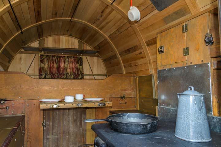 Basque wagon interior Buffalo Wyoming Basque Festival