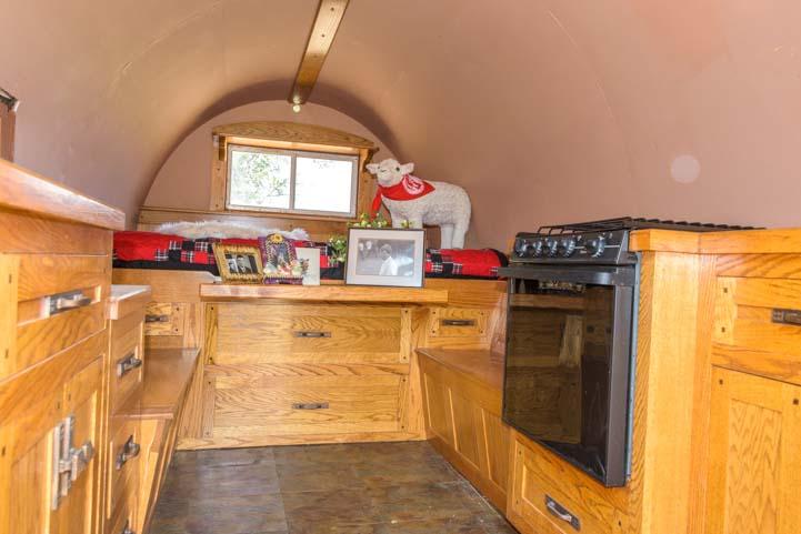 Inside a Basque wagon for camping and sheep herding Buffalo Wyoming