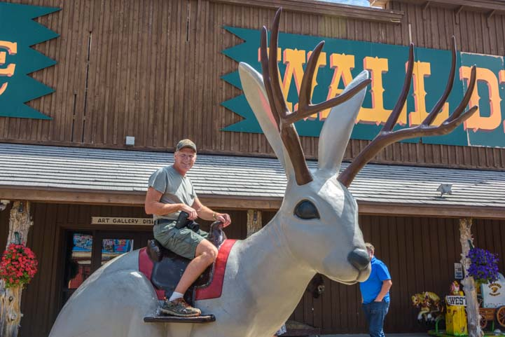 Riding a Jackalope Wall Drug South Dakota