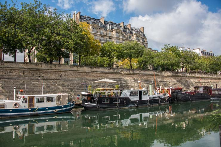 Boats on the Seine River Paris