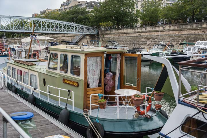 Living aboard on the River Seine Paris
