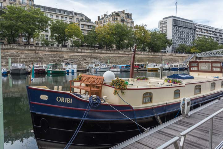 Boat life on the River Seine Paris