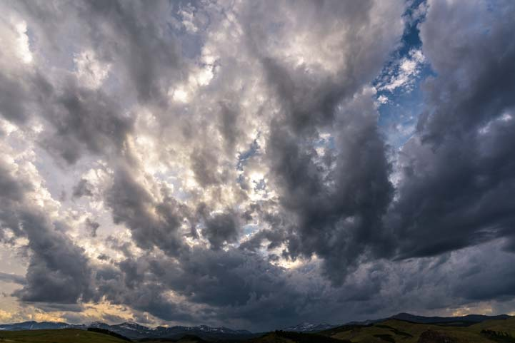 Stormy skies Bighorn National Forest Wyoming