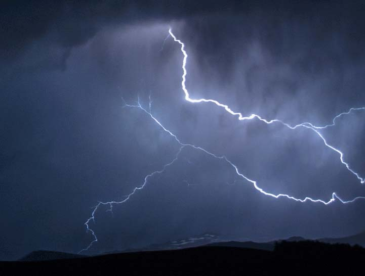 Lightning in Bighonr National Forest Wyoming