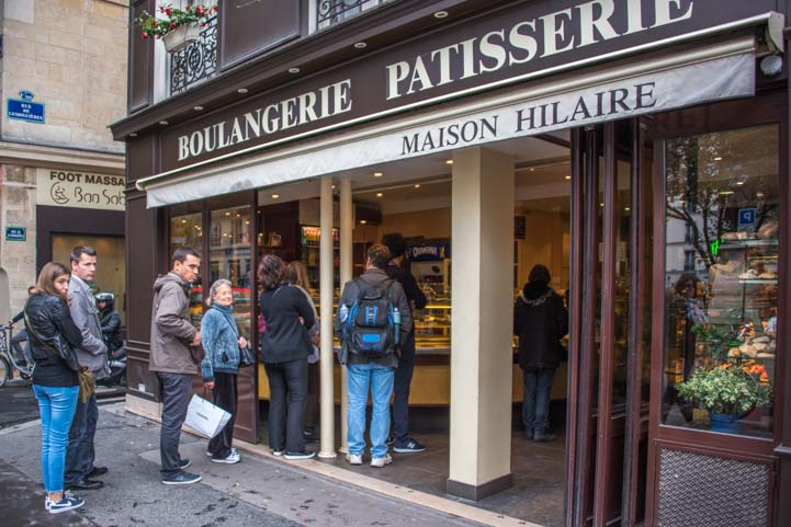 In line at a Boulangerie Paris