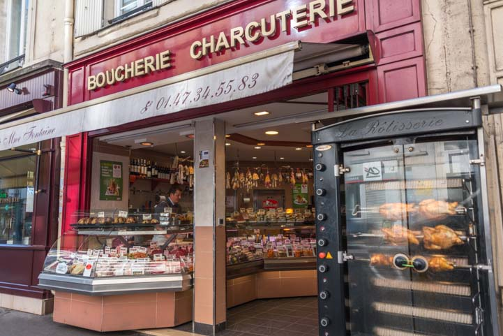 Gourmet meat shop in Paris