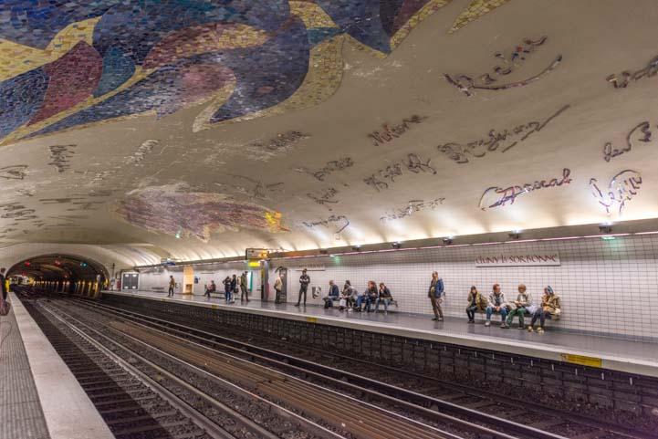 Cluny-Sorbonne Metro Station Paris