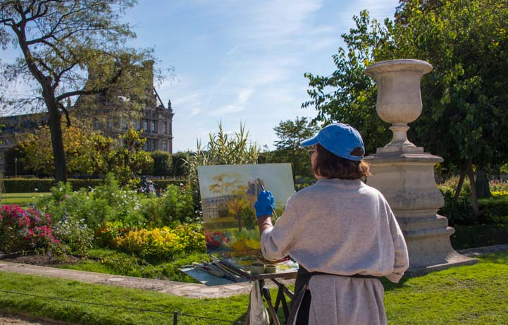 Plein Air Painting Tuilleries Garden Paris