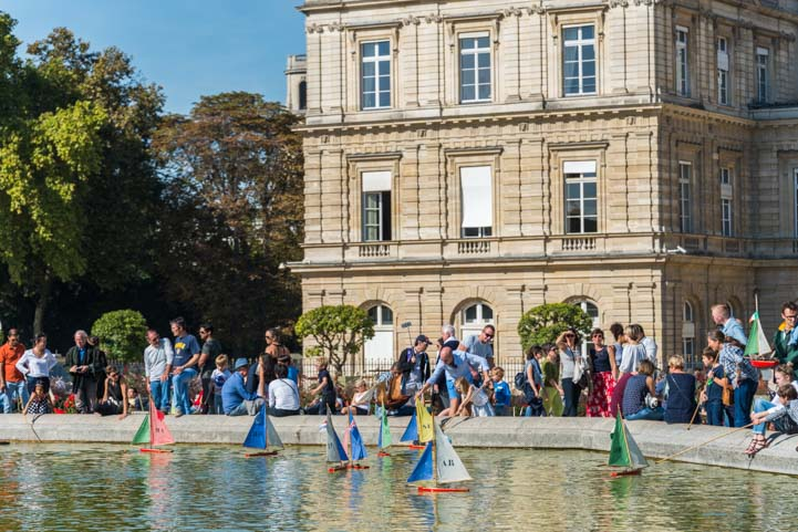 Sailboats at Luxembourg Garden Paris