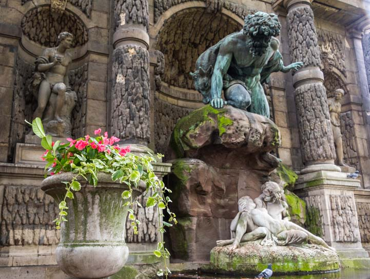 Marie de Medici Fountain sculpture Paris