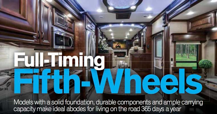 Full-time Fifth Wheels Trailer Life Magazine October 2017