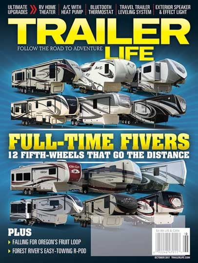 Full-time Fifth Wheels Trailer Life Magazine October 2017-min