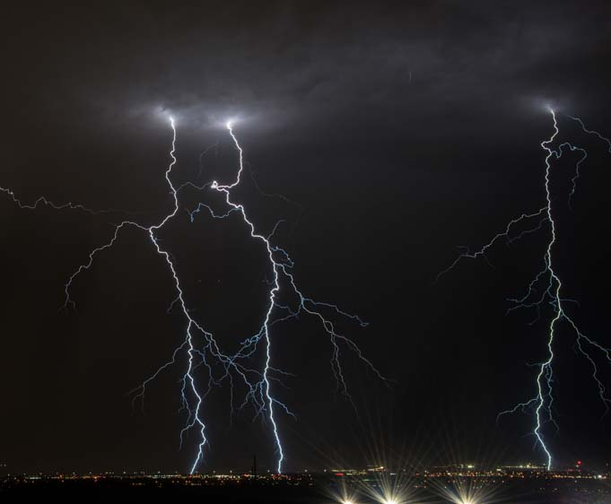 Lightning bolts in Las Vegas Nevada