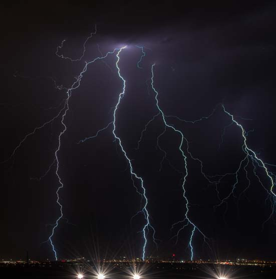 Lightning bolts Las Vegas Nevada