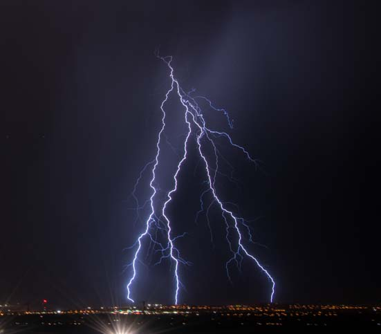 Lightning in Las Vegas Nevada