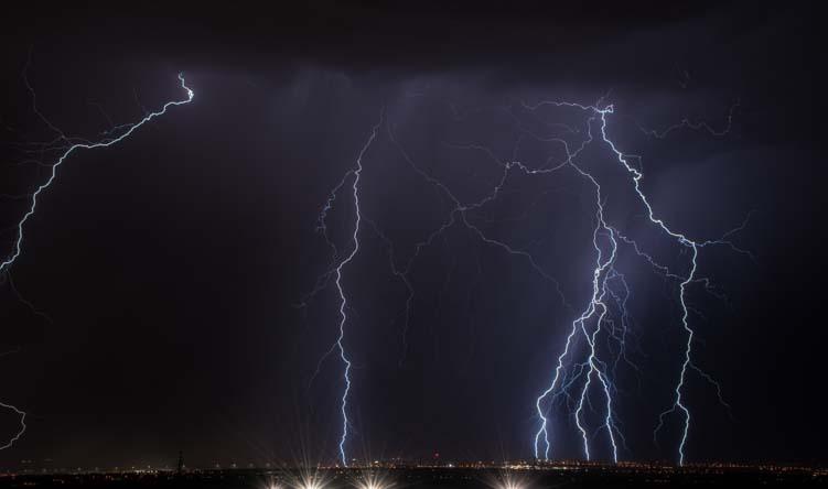 Lightning storm Las Vegas Nevada