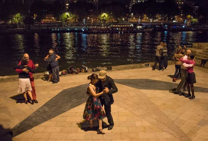 Dancing on the Seine River Paris France-min