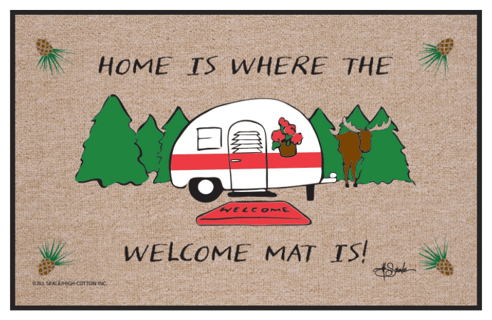 Home is where the RV welcome mat is-min