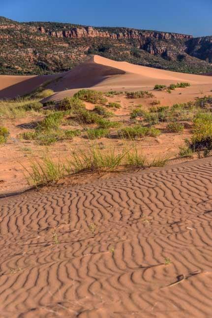 Sand patterns Coral Pink Sand Dunes State Park Utah RV trip-min