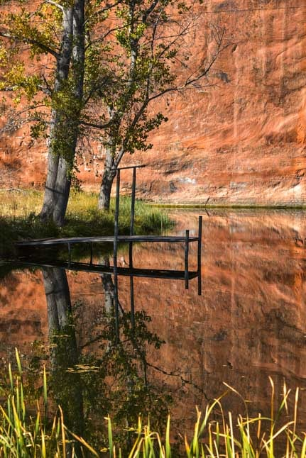 Red rock reflections Kanab Utah RV trip-min