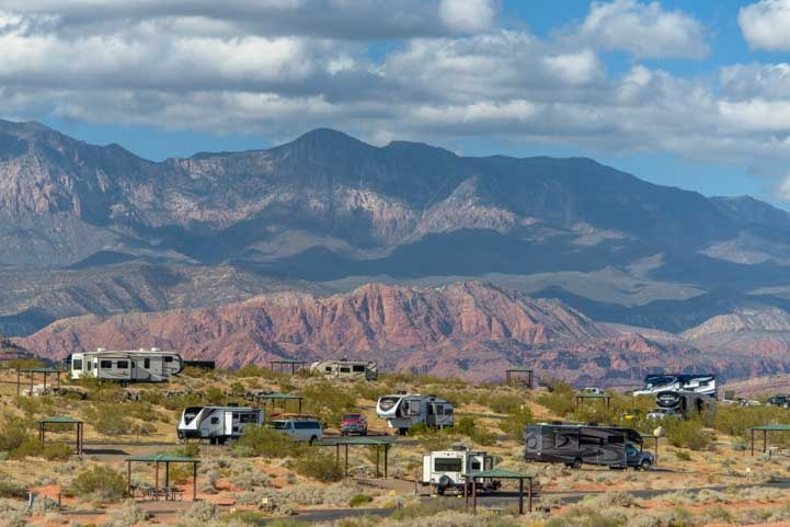 RV camping Westside Campground Sand Hollow State Park Utah-min