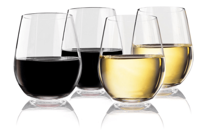 Shatterproof stemless wine glasses for RV living and camping-min
