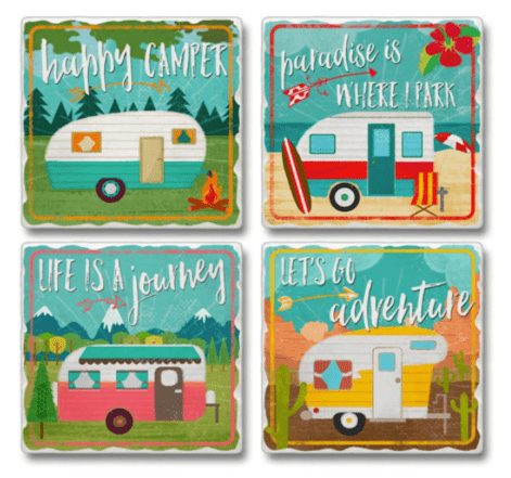 Retro RV trailer coasters-min