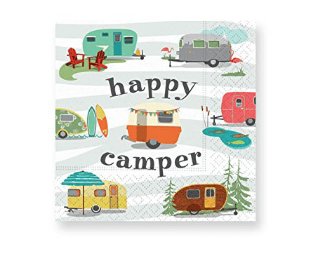 Happy camper cocktail napkins-min