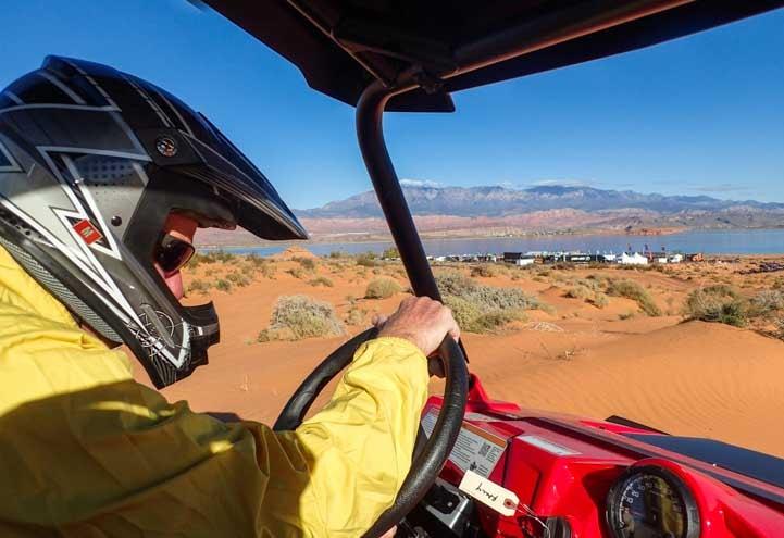 Test drive Polaris RZR 570 Sand Hollow State Park Utah-min