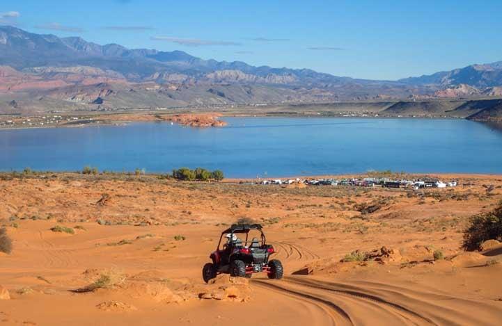 Polaris RZR 570 test drive Sand Hollow State Park Utah-min