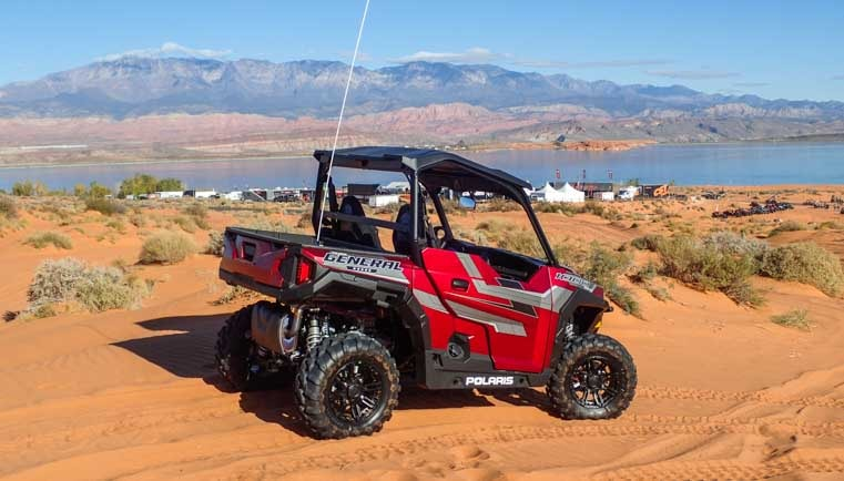 Polaris General at Sand Hollow State Park Utah-min