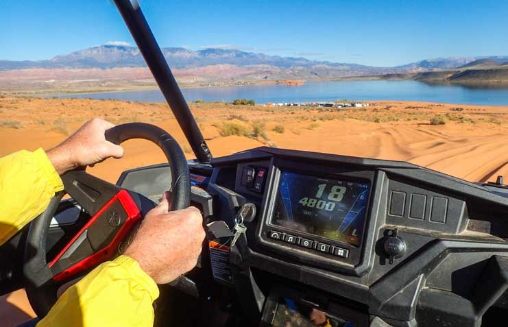 Polaris General side by side test drive Sand Hollow State Park Utah-min