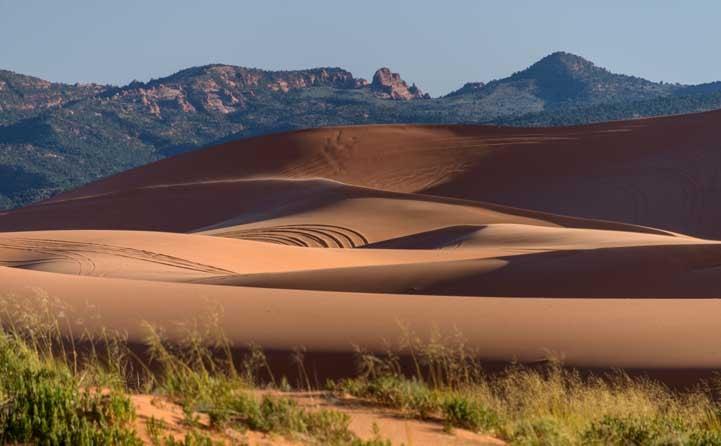 Soft sand dunes Coral Pink Sand Dunes State Park Utah RV trip-min