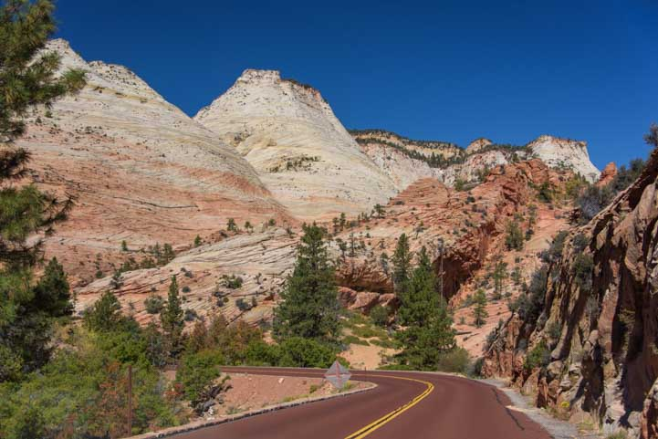 Driving Route 9 to Zion National Park on Utah RV trip-min