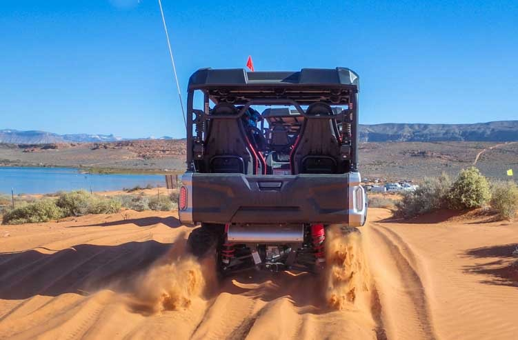 Yamaha Wolverine side by side test drive Sand Hollow Jamboree Utah-min