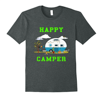 t-shirt - happy camper with travel trailer-min