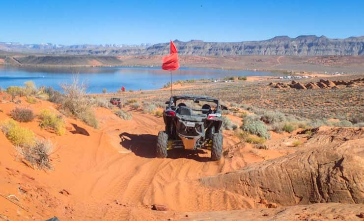 Can-Am Maverick X3 side by side UTV Sand Hollow State Park Utah-min