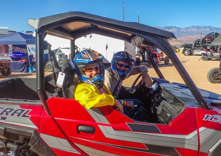 Ready for a test drive at Sand Hollow Jamboree in Polaris General UTV-min