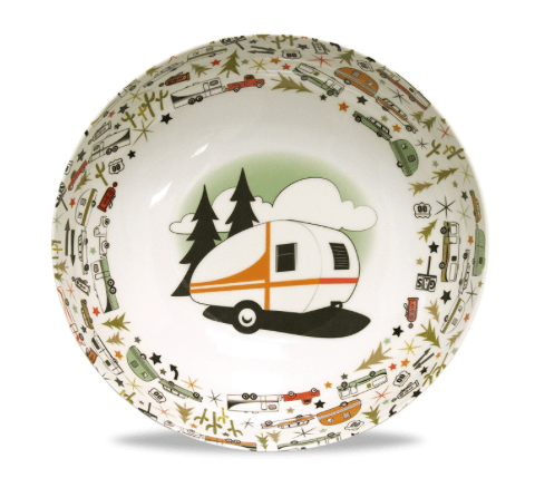 RV bowl and serving set with travel trailer design-min