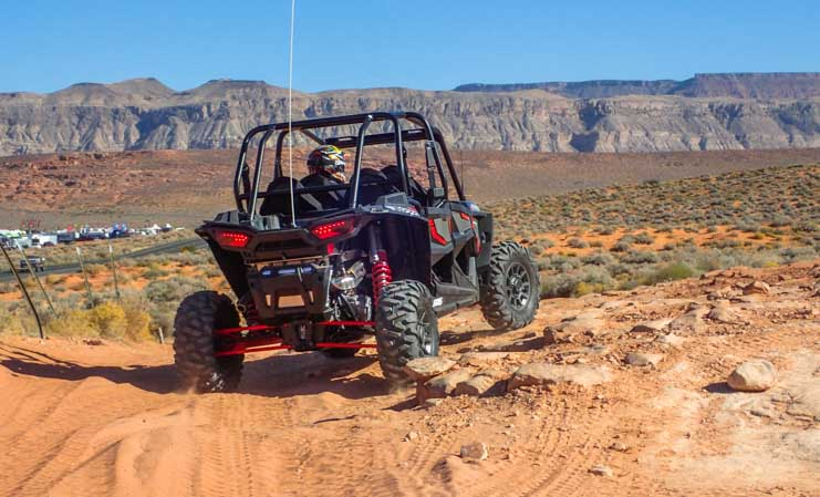 Rough terrain RZR 1000 4-seater UTV in Utah-min
