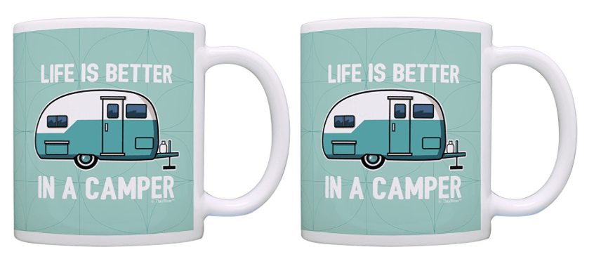RV coffee mugs with travel trailer-min