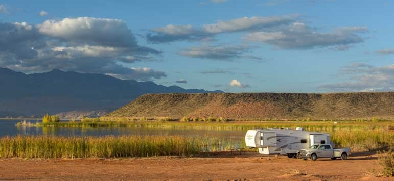Sand Hollow State Park RV camping on the beach-min